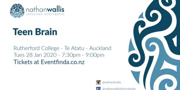 Nathan Wallis – Teen Brain At Rutherford College | Tickets On Sale Now